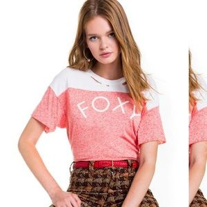 NWT wildfox foxy destroyed football t
